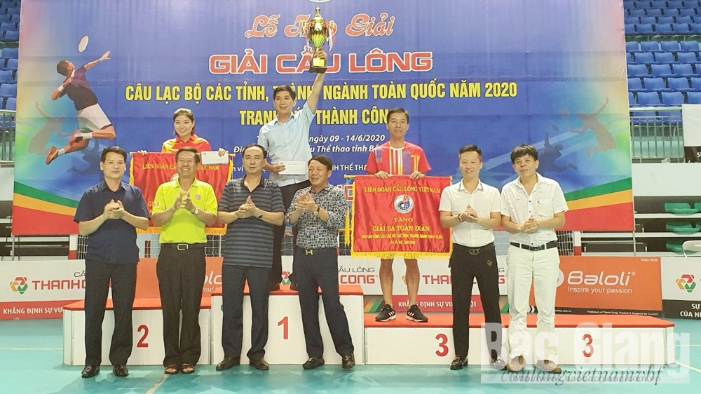 Bac Giang club, Bac Giang province,, 2020 National Badminton Tourney, 17 sets of medals, Thanh Cong Cup, mutual development