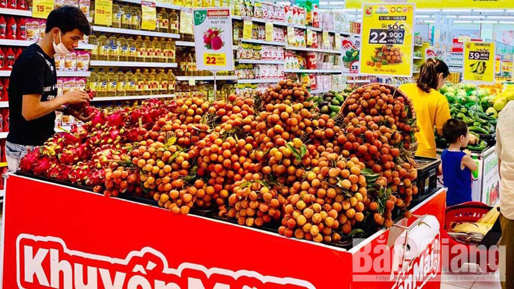 Bac Giang lychee well consumed at supermarkets and restaurants