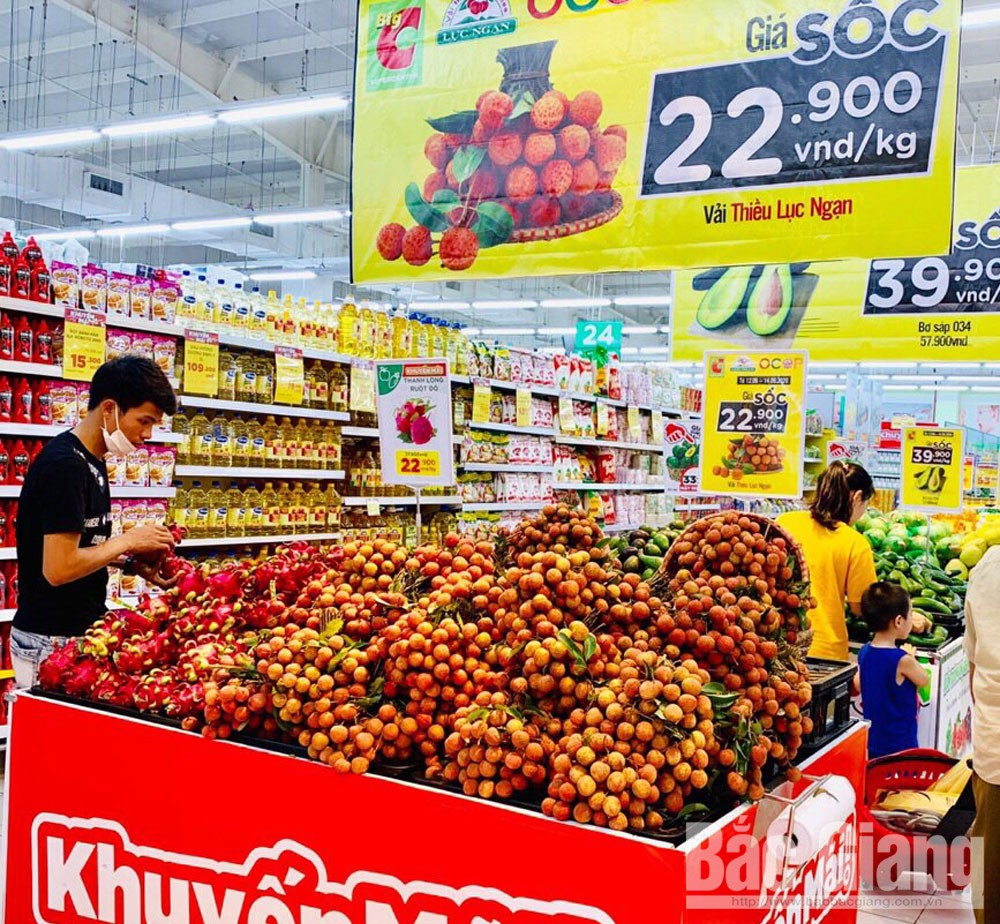 Bac Giang lychee, well consumed, supermarkets and restaurants, foreign markets, Bac Giang province, big wholesales markets, promotion and discount programmes, VietGAP certificate
