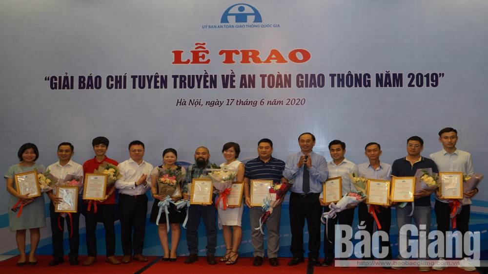 Báo Bắc Giang có 2 tác phẩm đoạt Giải thưởng báo chí tuyên truyền về ATGT năm 2019