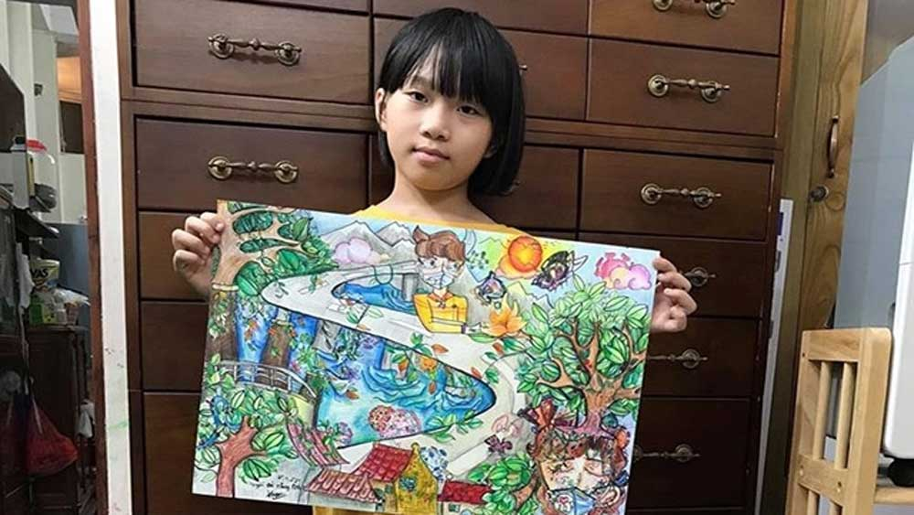Reuters gives praise to Vietnamese schoolgirl for creating art from the chaos of Covid-19