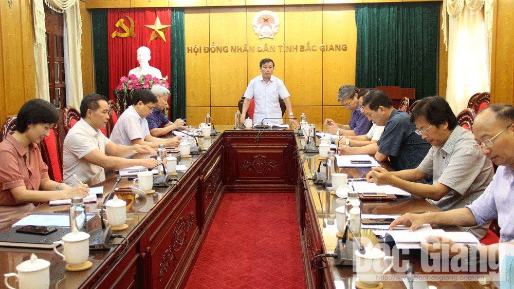 thẩm tra, HĐND tỉnh Bắc Giang, tờ trình, nghị quyết HĐND tỉnh Bắc Giang