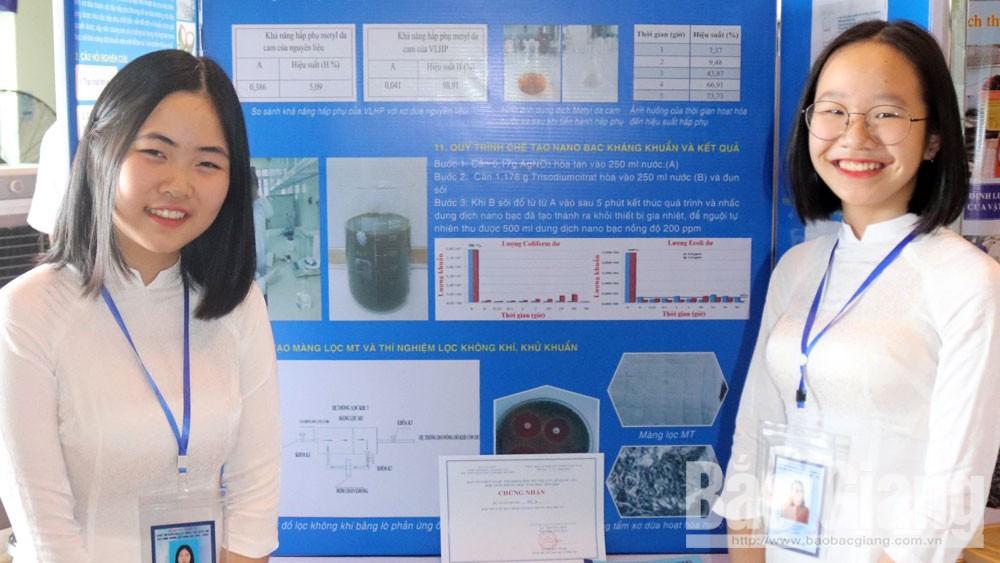 Bắc Giang có 2 dự án đoạt giải khoa học kỹ thuật quốc gia dành cho học sinh trung học