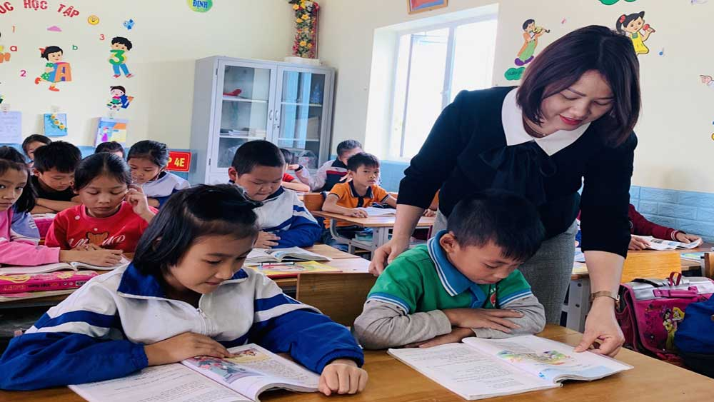 Head Mistress Pham Thi Hoan, National outstanding teacher, Bac Giang province, Hiep Hoa district, educational establishment, primary education, quality of education