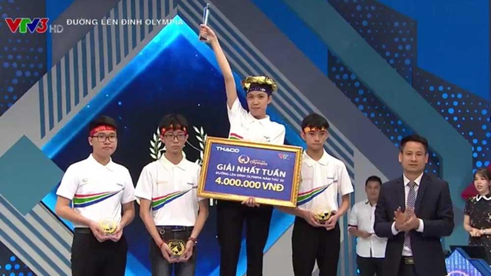 Nam sinh Bắc Ninh chạm mốc điểm kỷ lục phần thi Khởi động Olympia