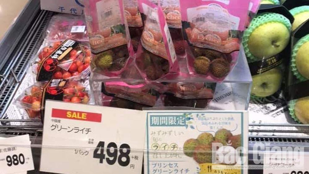 Giá bán vải thiều Lục Ngạn tại Nhật Bản từ 180-270 nghìn đồng/kg