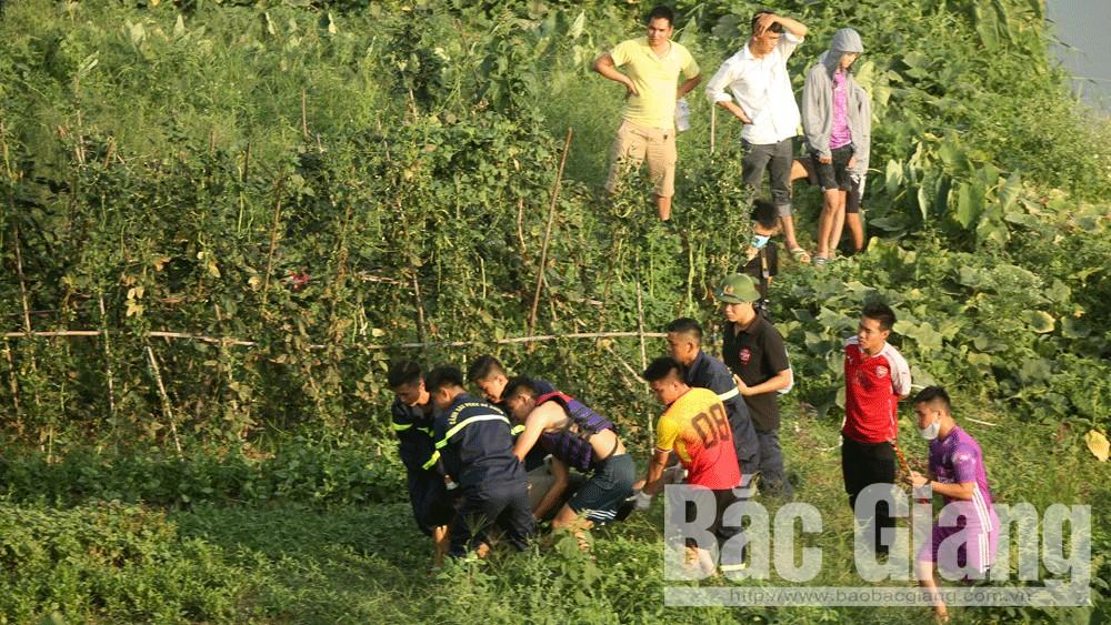 nạn nhân, tử thi, sông Thương, TP Bắc Giang, Bắc Giang.
