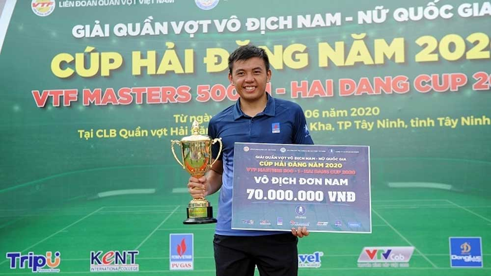 Ly Hoang Nam, no. 1 position, domestic tennis, Top seed, no. 1 tennis player, comfortable win, domestic tennis reign