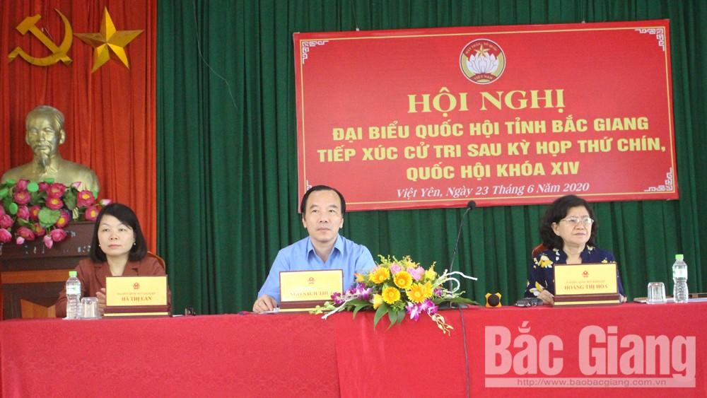 ĐBQH tỉnh Bắc Giang tiếp thu nhiều kiến nghị của cử tri huyện Việt Yên