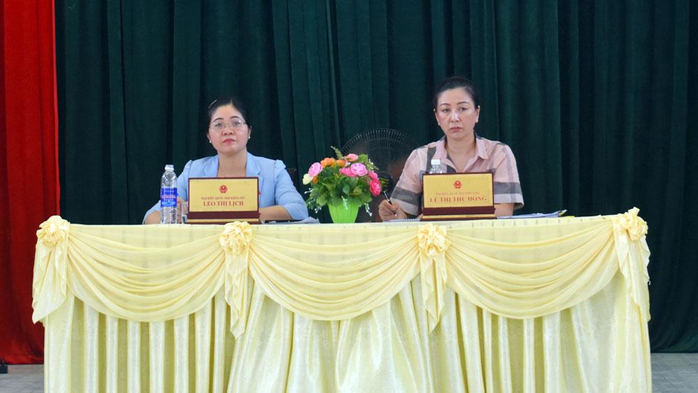 Đoàn, Quốc hội tỉnh tiếp xúc, cử tri,Tân Yên