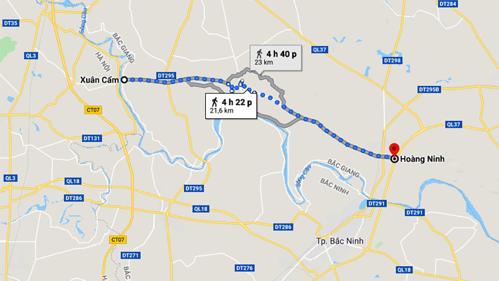 Belt road no 4, worth trillions VND, links Hanoi to Bac Giang,   total estimated investment, provincial budget, Bac Giang – Hanoi Expressway, Xuan Cam - Bac Phu bridge