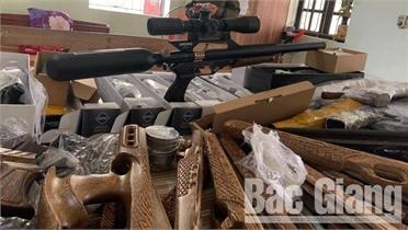 Cục Cảnh sát hình sự phối hợp với công an Bắc Giang triệt xóa ổ nhóm mua bán súng săn qua mạng