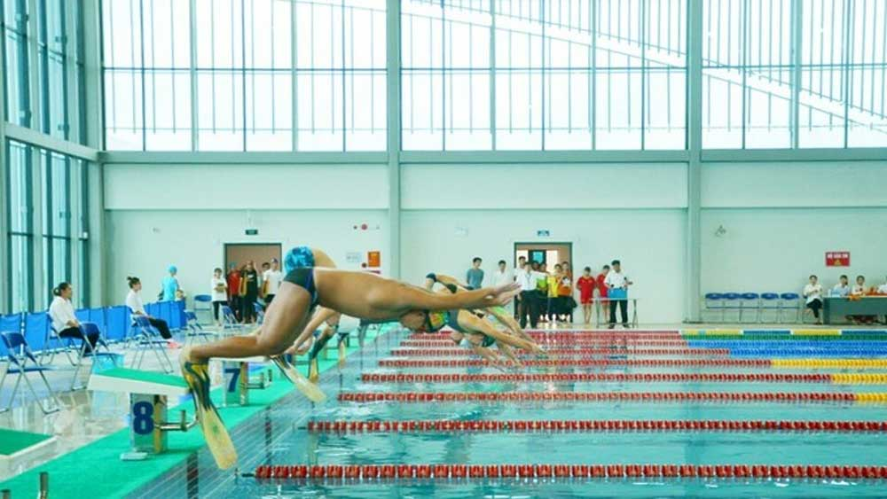 Swimmers, slew of records, national junior championships, Vietnam's swimming stocks, young swimmers