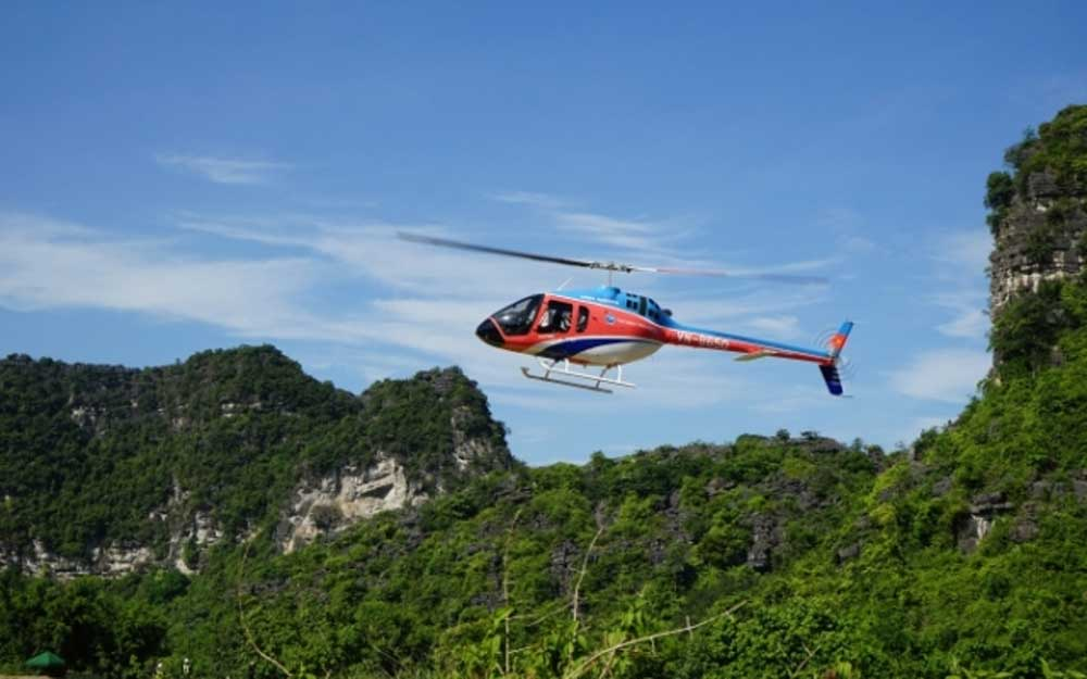 Ninh Binh province, new helicopter tour, Trang An complex, Trang An Scenic Landscape Complex, stunning scenic views, UNESCO-recognised site