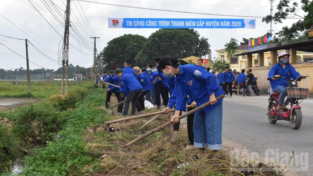 Tuổi trẻ Tân Yên thực hiện nhiều công trình, phần việc thanh niên