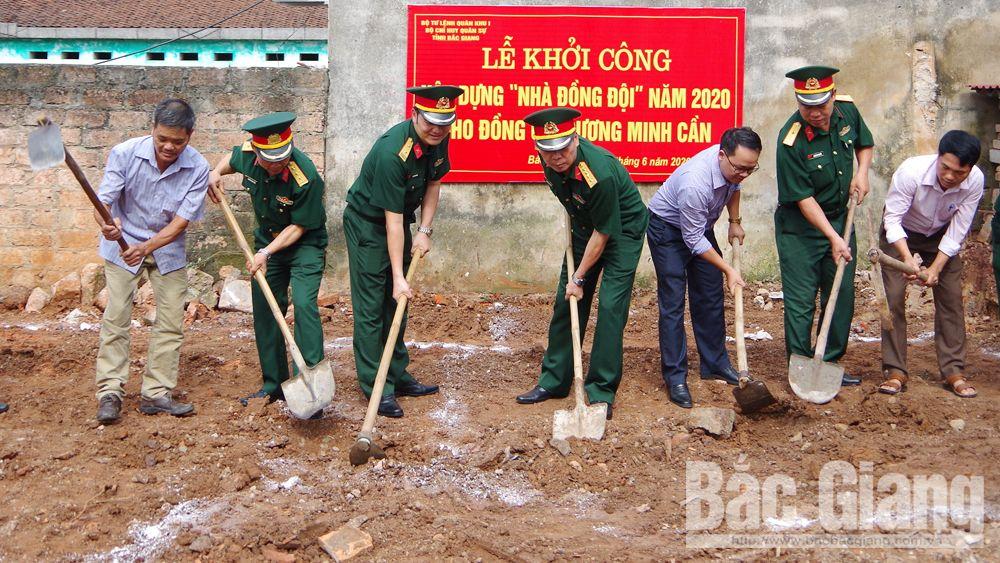 """Bộ CHQS tỉnh Bắc Giang: Khởi công xây dựng """"nhà đồng đội"""""""