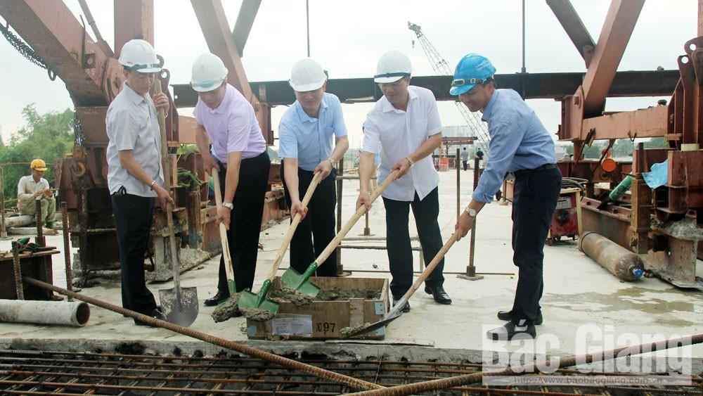 Bắc Giang: Hợp long cầu Bến Hướng