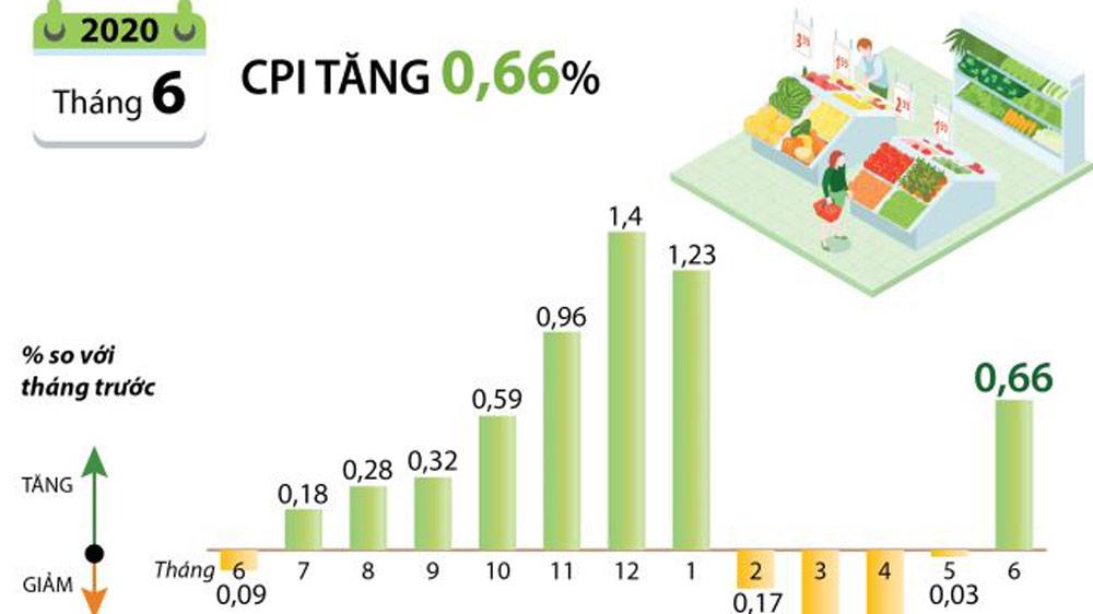 CPI tháng 6/2020 tăng 0,66%