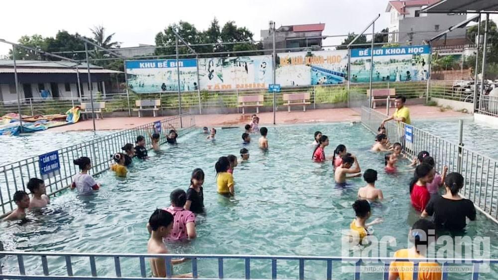 Đuối nước, Trường Tiểu học Tân Mỹ, bắc giang, giáo dục, dạy bơi cho học sinh,