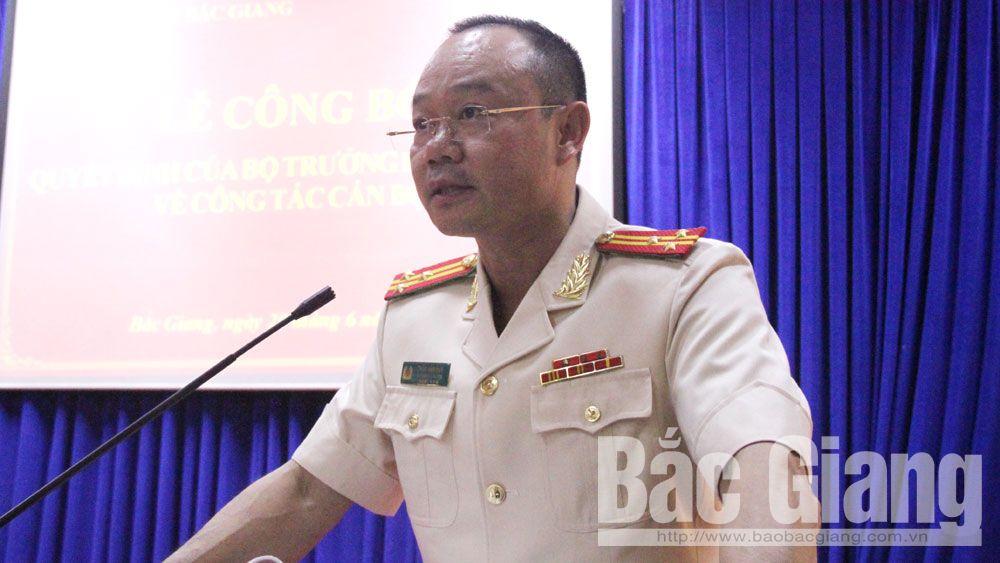 bổ nhiệm, Phó Giám đốc, Công an tỉnh, công an, Bắc Giang, Thân Văn Duy, Thân Văn Hải.