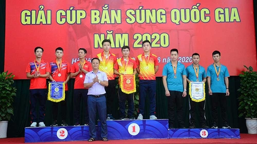Army team, National Shooting Cup, 25 gold medals, five days of competition, national-level tournament, individual and team events