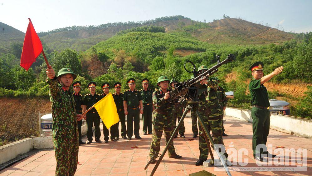 Bộ CHQS Bắc Giang, phòng không nhân dân,
