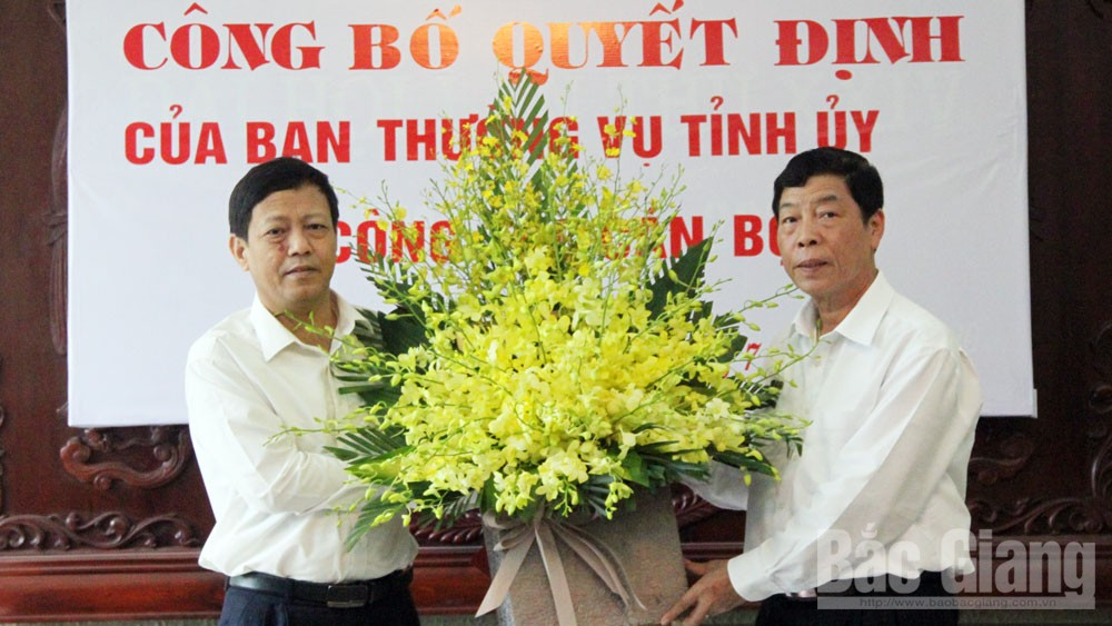 Đồng chí Tống Ngọc Bắc giữ chức Trưởng Ban Tổ chức Tỉnh ủy Bắc Giang
