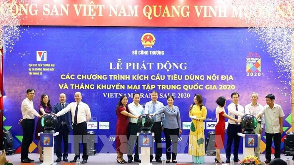 Concentrated national promotion month, domestic consumption, stimulus programmes, Vietnam Grand Sale 2020, action plan, highest possible growth, Vietnamese goods
