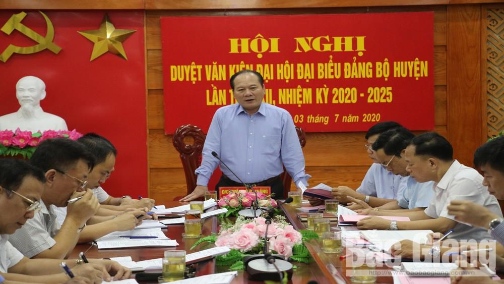 Bắc Giang; Lạng Giang; Dự thảo báo cáo chính trị