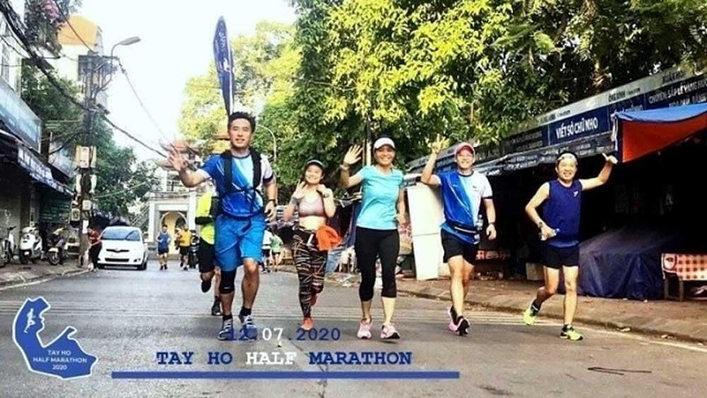 SEA Games winners, Tay Ho half-marathon 2020, first annual running tournament, Nguyen Thi Oanh,  public race,  historic landmarks