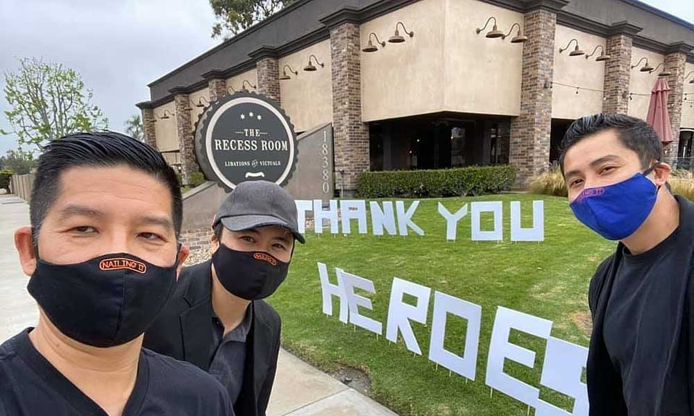 Vietnamese, the US, prepare free meals, keep pandemic spirits lit, Recess Room, Fountain Valley City, free food, Free Food Friday