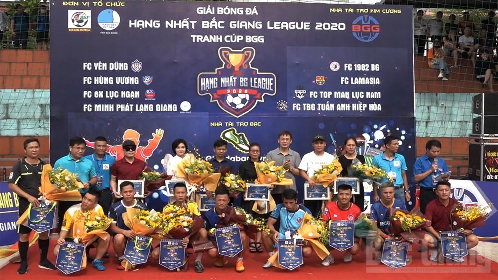 Khai mạc Giải bóng đá Hạng Nhất Bắc Giang League năm 2020 tranh cúp BGG
