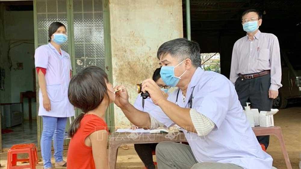Học sinh, xã Hải Yang, nghỉ học 1 tuần, phòng chống bệnh bạch hầu, tỉnh Gia Lai, 10 ca bệnh bạch hầu, hạn chế ra ngoài