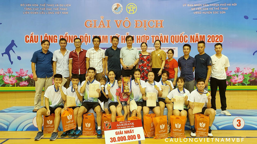 Bac Giang province, Bac Giang badminton team, gold medal, National Mixed Team Badminton Championships, young and uniform athletes, athletes' competition quality
