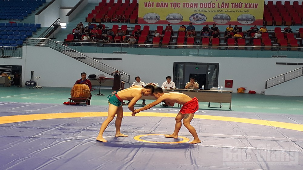 24th National Traditional Wrestling Tourney, Bac Giang province, Vietnam Sport Administration, top overall ranking, national martial spirit