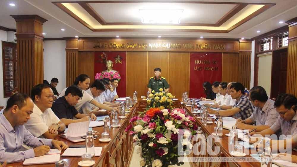 Duyệt Dự thảo Báo cáo chính trị Ban Chấp hành Đảng bộ huyện Lục Ngạn