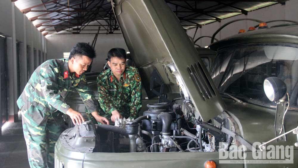 Công tác kỹ thuật ngành xe-máy ở Bộ CHQS tỉnh Bắc Giang: Bảo đảm hệ số kỹ thuật,  đáp ứng yêu cầu nhiệm vụ