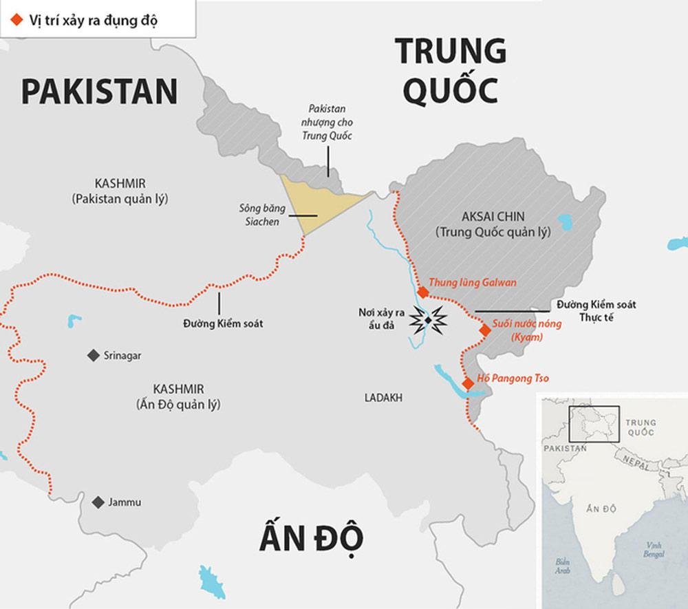 Ấn Độ, ẩu đả biên giới, ẩu đả Ấn - Trung