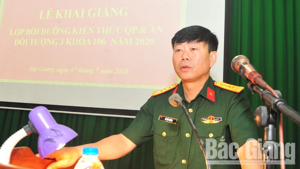 Bắc Giang: 51 học viên tham gia lớp bồi dưỡng kiến thức quốc phòng - an ninh đối tượng 3