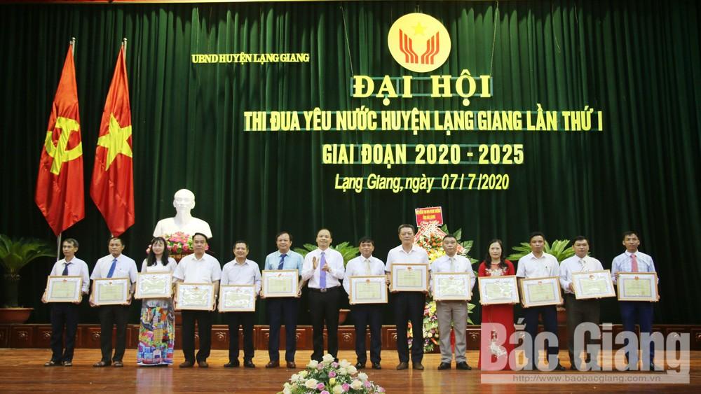 Đại hội thi đua yêu nước huyện Lạng Giang: Tuyên dương 42 tập thể, 69 cá nhân có thành tích xuất sắc