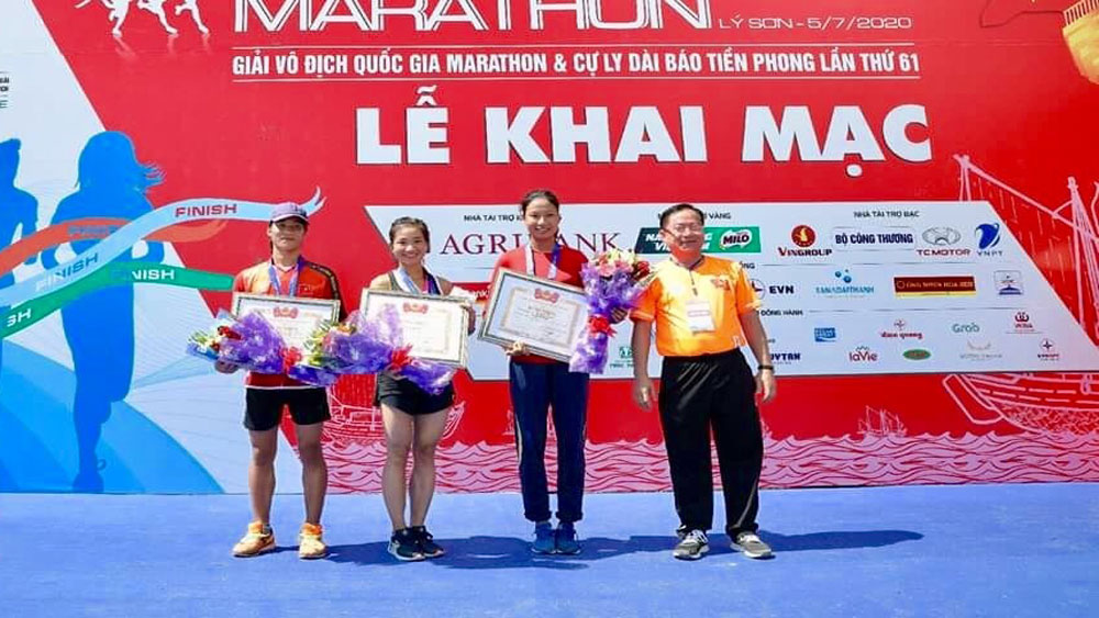 Bac Giang born athlete, Nguyen Thi Oanh, gold medal, Tien Phong National Marathon Championship, Bac Giang province, track and field, 61st National Marathon Championship