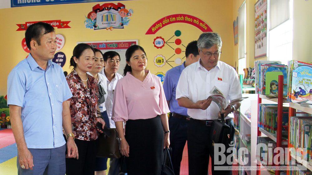 Việt yên, giám sát, ĐBQH, chương trình, sách giao khoa, giáo dục phổ thông