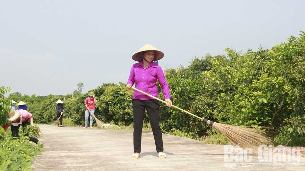 Bac Giang province, safe bright and fine roads, Vietnam Women's Union, Party Congress, new rural, civilized urban areas