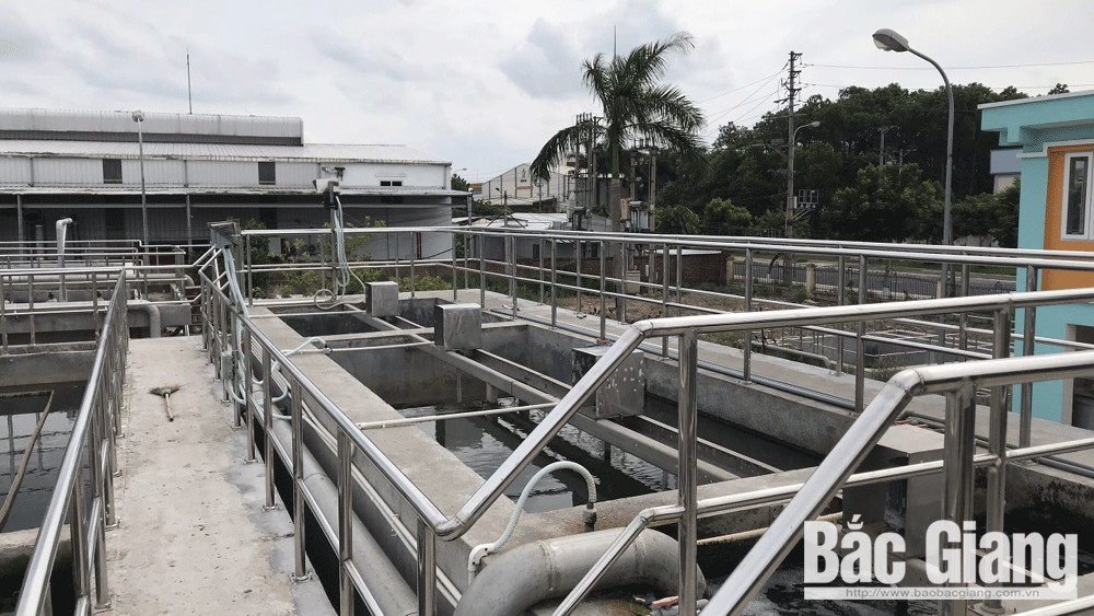Waste water treatment station, put in operation, Dinh Tram industrial park, Bac Giang province, A standard, design capacity, environment pollution
