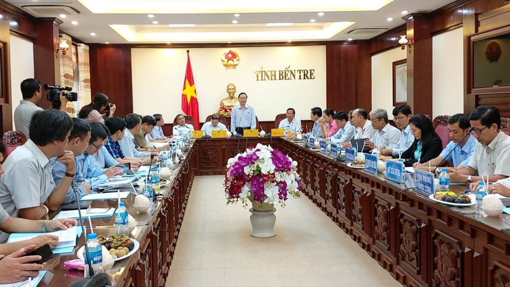 Phó Chủ tịch Quốc hội Phùng Quốc Hiển, tỉnh Bến Tre, quy hoạch ứng phó, xâm nhập mặn, có tầm nhìn, phục vụ sản xuất, sinh hoạt, điều tiết