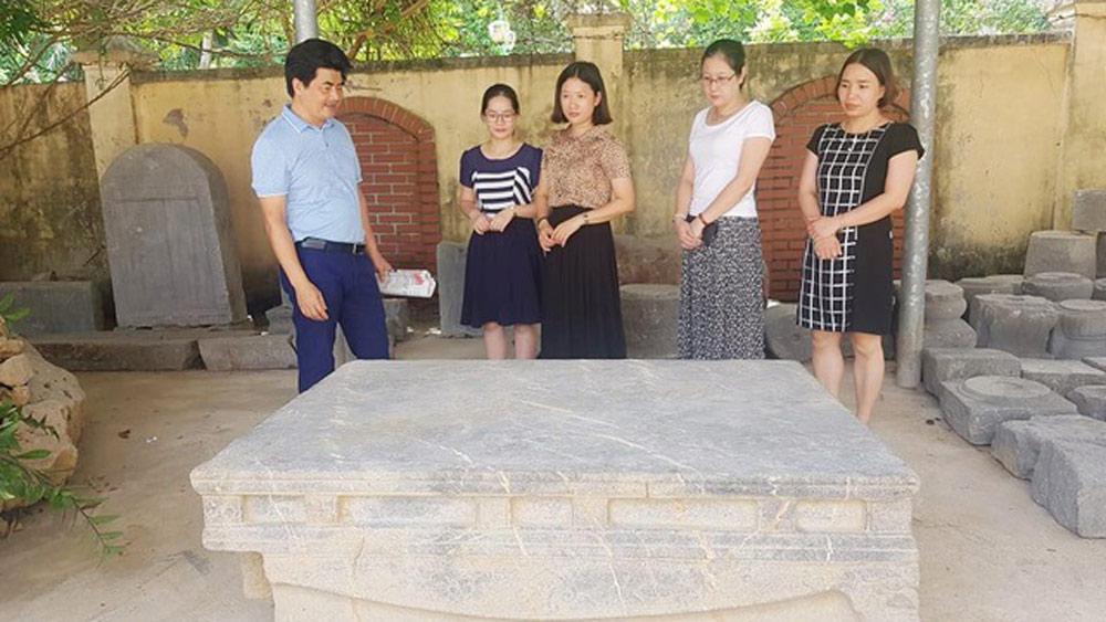 sập đá cổ, sập đá bảo vật quốc gia, bảo tàng, Ninh Bình, xã xích thổ