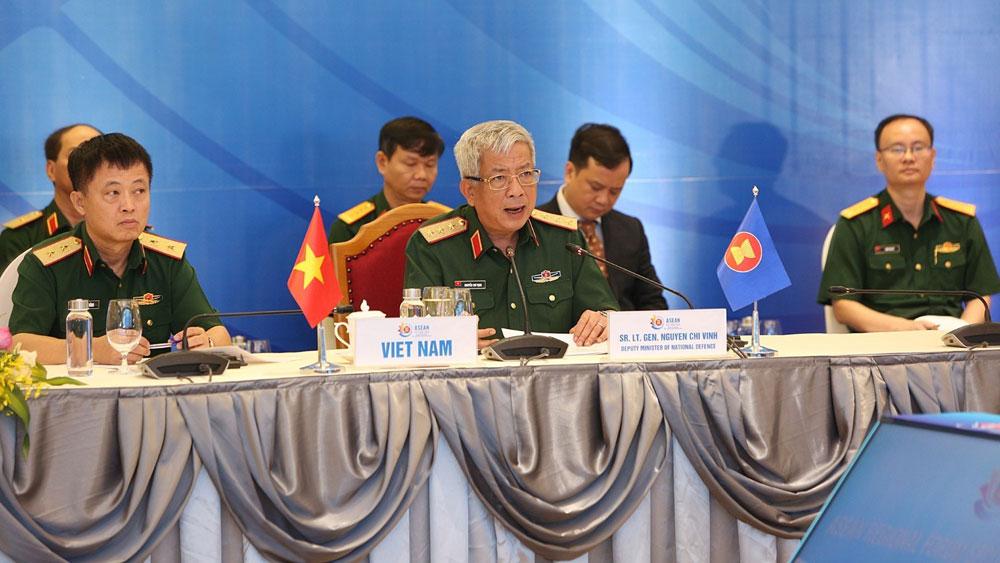 ASEAN 2020, Hội nghị trực tuyến, Chính sách An ninh, diễn đàn khu vực ASEAN, Bộ Quốc phòng Việt Nam, Thượng tướng Nguyễn Chí Vịnh, Ủy viên Trung ương Đảng, Ủy viên Thường vụ Quân ủy Trung ương, Thứ trưởng Bộ Quốc phòng