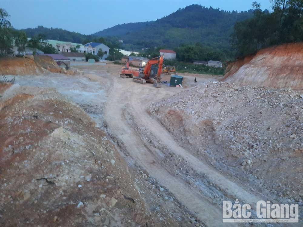 Khai thác đất, núi Khống, tuân thủ quy định
