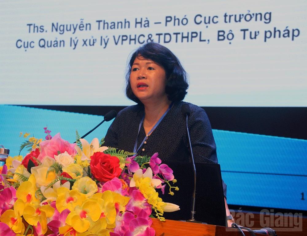 Bắc Giang, tập huấn, Sở Tư pháp, Nguyễn Thanh Hà, xử lý vi phạm hành chính, theo dõi thi hành pháp luật