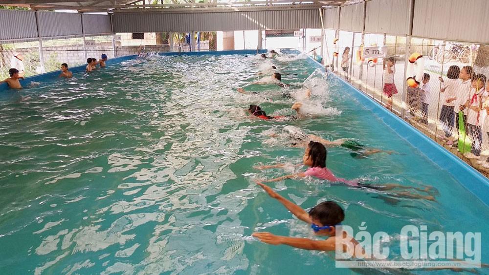 Phổ cập bơi, học sinh, Khó, vì sao, Bắc Giang, dạy bơi